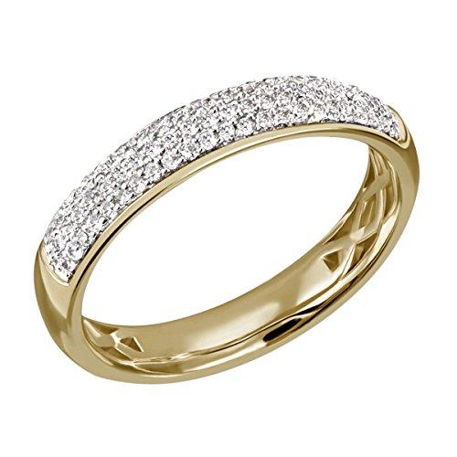 goldmaid Damen-Ring Gelb Gold 585 68 Diamanten 0,27 Karat Pavee Grösse 56 Pa R4231GG56 Verlobungsring  Diamantring (Diamant-ring Gelb-gold)