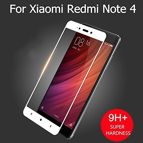Full Body Tempered For Redmi Note 4, Roxel (TM) 3D Arc Edge Full Body Front Edge to Edge Tempered Glass Screen Scratch Guard Protector for Redmi Note 4 (Gold, 64 GB)/Redmi Note 4 (Black, 64 GB)/Redmi Note 4 (Gold, 32 GB)/Redmi Note 4 (Dark Grey, 64 GB)/Redmi Note 4 (Lake Blue, 64 GB)/Redmi Note 4 (Black, 32 GB)/Redmi Note 4 (Gold, 32 GB) - Royal White