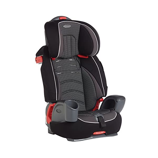 Graco Nautilus Harnessed Booster Car Seat Group 1/2/3, Gravity Graco 3-in-1 convertible car seat For children 9 to 36 kg (approx. 9 months to 12 years) Convenient one-hand height-adjustable headrest 4