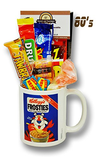 Kellogg's Frosties Mug with a selection 1980's Retro Sweets