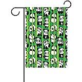 Dozili Gartenflagge Panda, Bambus, Wetterfest und doppelseitig, Polyester, bunt, 28