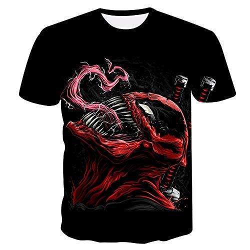 ZCYTIM New Venom Serie Männer T-Shirt Sommer 3D-Druck Rundhals Kurzarm Serie Casual T-Shirt Mode Coole Männer Shirt -