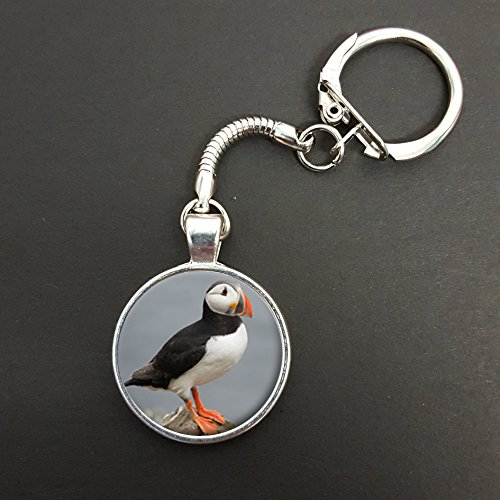 Puffin Pendant On A Snake Keyring Ideal Birthday Gift N581