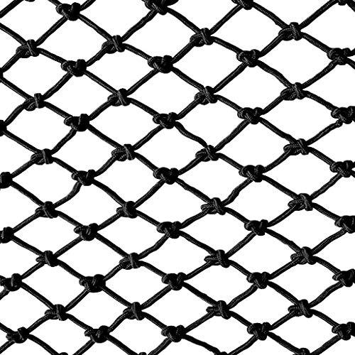 Bausicherheitsnetz Seil Kindertreppe Balkon Bruchsicheres Netz Stegdekoration Netz Zuchtnetz Zaunnetz Klettern Aufhängung Isolationsschutznetz Schwarz (Size : 1 * 2m)