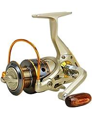 Hrph 12 Cojinetes Rollo de pesca de hilado de metal JX1000-7000 Relación de velocidad de la devanadora de línea