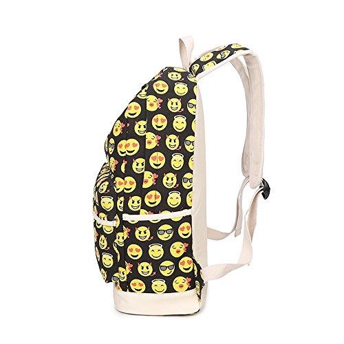 Tibes kleines nettes Emoji-Rucksack-Kind-Mädchen Daypack Gelb A2 Gelb(31*44*15cm)