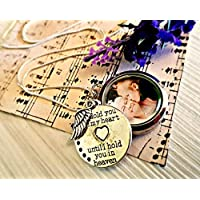 Memorial Floating Charm Locket with Sterling Silver Chain & GIFT BOX - Photo Locket Sympathy Jewellery Gift