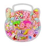 ABBY Mignon Perles DIY 243PCS enfants perlé jouets boîte à bijoux fille puzzle perlé jouets cadeaux fille