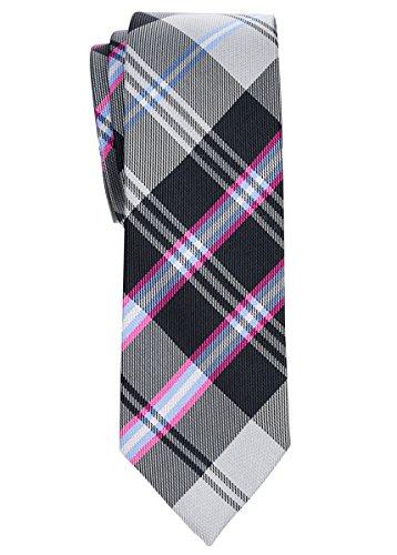 Retreez Elegante Plaid Check DAB10255,1cm Krawatte Gr. onesize, grau