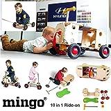 MINGO KIDS RIDE ON CAR SCOOTER GO SKATEBOARD WOODEN SWING SWIVEL BUILD TOYS GIFT
