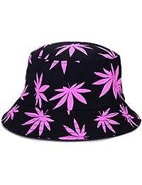 055ab481865 Yiwa Graffiti Maple Leaf Unisex Fisherman Hat Summer Beach Travel Sun Hat  Bucket Hat