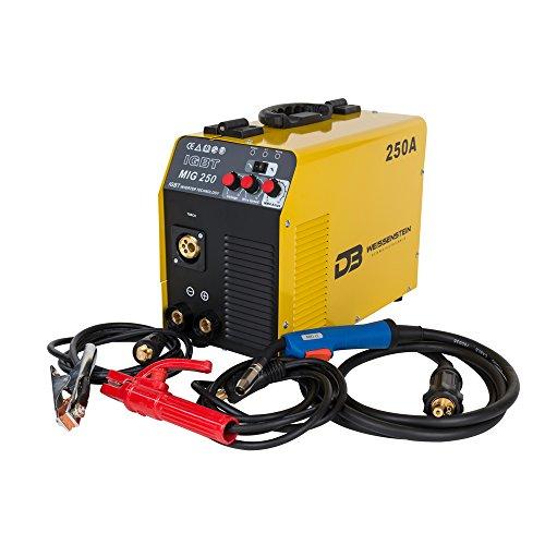 Schweißgerät MIG MAG/ MMA IGBT 250Amp 230V Schutzgas CO2 und Fülldraht Schweißgerät + GRATIS Fülldraht-Schweißdraht Ø 0,9mm FLUX 1kg