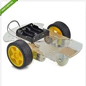 2WD Moteur Robot Smart Car Châssis Kits Speed Encodeur battery Box pour Arduino