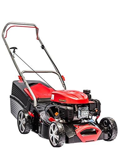 AL-KO Benzin-Rasenmäher Classic 4.26 P-A, 42 cm Schnittbreite, 2.0 kW Motorleistung, für Rasenflächen bis 800 m², Schnitthöhe 7-fach verstellbar, robustes Stahlblechgehäuse, inkl. 65 l Fangkorb mit Füllstandsanzeige