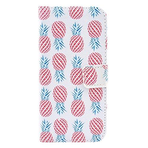 Phone case & Hülle Für IPhone 6 Plus / 6S Plus, Ananas Muster Leder Tasche mit Halter & Card Slots & Geld Tasche ( SKU : S-ip6p-0159c ) S-ip6p-0159