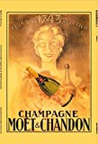 Moet & Chandon champagne 1743 reklame metal sign, retro, schild aus blech