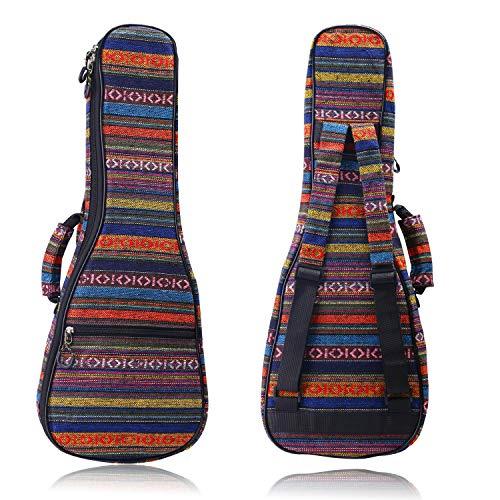 CAHAYA Ukulele Tasche 23 Zoll 66cm Gigitasche Gigbag ukulelenhülle Baumwolle Nylon 10mm gepolsterte Ukulelentasche