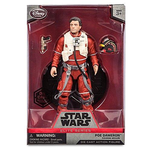 Offizielle Disney Star Wars Elite Serie 18cm Poe Dameron Druckguss Fiugre