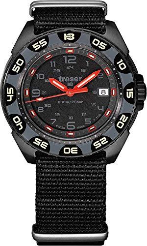 traser H3 - Reloj de pulsera T100 con alerta roja – negro – OTAN