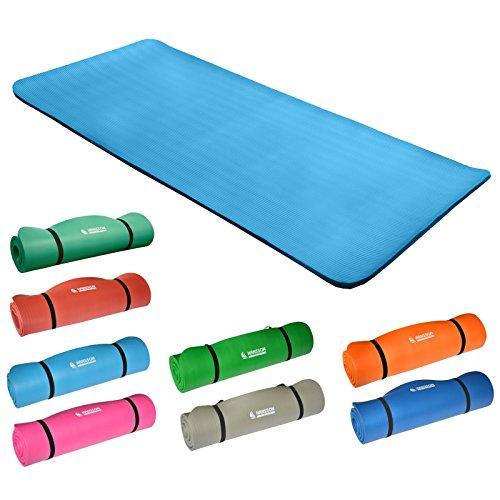 Hansson.Sports NBR Fitness Yoga Pilates Gymnastikmatte 183x80x1,5cm (hellblau)