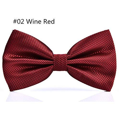 LLTYTE 23 Farben Solide Mode Fliege Männer Plaid Bowties Rot Blau Grün Silbrig Grau Für Männer Frauen Hochzeit Zubehör Rote Paisley Bowties