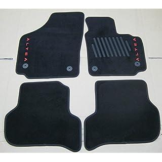 Seat GENUINE ALTEA 5P FRONT + REAR BLACK CARPET MATS SET