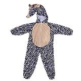 LPATTERN Cosplay Kinder Bühne Leistung Kleidung Spiel Kostüm, Zebra, M(Fabrikgröße: L