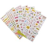 6 Hojas Pegatinas de Papel Modelo Gatos Decoración para Calendario Libro de Recuerdos Bricolaje