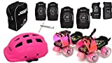 Jaspo Derby Dolls Pro Junior Adjustable Roller Skates Combo Suitable for Age Group