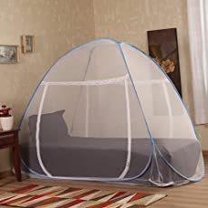 Prc Mosquito Net Single Bed Blue Border