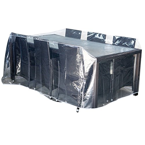 Tarpaulin for Garden Furniture New – 2.3 x 1.3 x 0.8 m Clear Cover Cover Patio