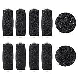 ROSENICE Rouleaux Ponceurs Micro-Minéraux 8 emballer rugueux et doux Pédicure Rouleaux pour velours lisse Pedi électrique