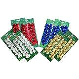 com-four® 96x Schleifen metallic in Verschiedenen Farben, ALS Dekoration zu Weihnachten und von Geschenken (96 Stück - Mix)