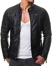 HASHOOB Mens Polyurethan Leather Jacket RL-01