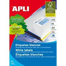 Apli 002140 - Pack de 100 etiquetas para impresora, 70 x 35 mm, color blanco