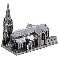 XINGYAN Modelo De Metal 3D, Bricolaje Ensamble De Modelos De Construcción para Adultos Colección Soporte De Exhibición De Rompecabezas De Corte Láser - Christchurch,Silver