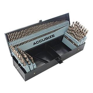 Accusize - M35 HSS+5% Cobalt Premium 115 Pcs Drill Set 3-in-1, 1/16-1/2
