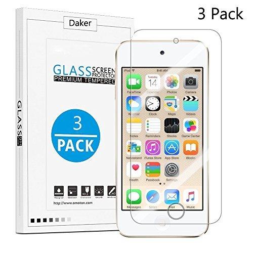 [2Pack] Tempered Glas Displayschutzfolie für iPod Touch 6G (6. Generation)/5g (5. Generation) 2.5D 9H Ultra Dünn Kristall klarem kratzfestem Rund Rand Schützen vor Stößen, Kratzer, 3 Pack Clear