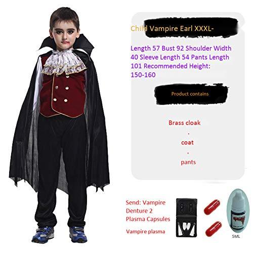 haojiagongsi Cos Halloween Kostüm Vampire Earl Kleidung Eltern-Kind Cos Kostüm Kindervampir GRAF XXXL