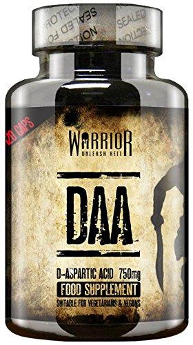 Warrior DAA / Ultra-Premium D-aspartico Acido (120 Capsule)