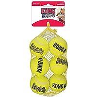 Kong 20873 SqueakAir Hundespielzeug Ball, 6Stück-Multipack, M