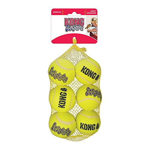 Kong Squeak Air Balls, Medium, Confezione da 6