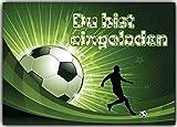 Fußball Einladungskarten Kindergeburtstag Fussball Einladungen Geburtstag Kinder (8 Stück) Jungen Mädchen Jungs Fussballticket
