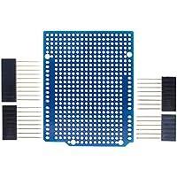 Prototype PCB d'extension pour Arduino ATmega328P Uno R3Shield Fr-4Fibre PCB Breadboard 2,54mm Pas 2mm avec pins DIY