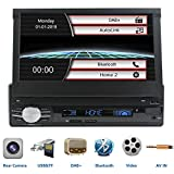LEXXSON Single Din Car Stereo with DAB DAB+ FM Radio Bluetooth, 7 inch
