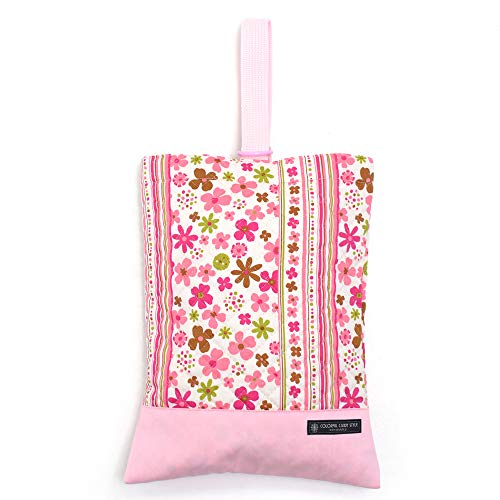 Kids shoes case of hand made sense Flower Park (quilting) Scandinavia (pink) made in Japan N3223500 (japan import)