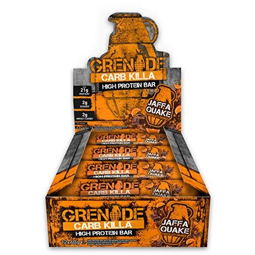 Grenade Carb Killa Jaffa Quake High Protein and Low Carb Bar, 12 x 60 g