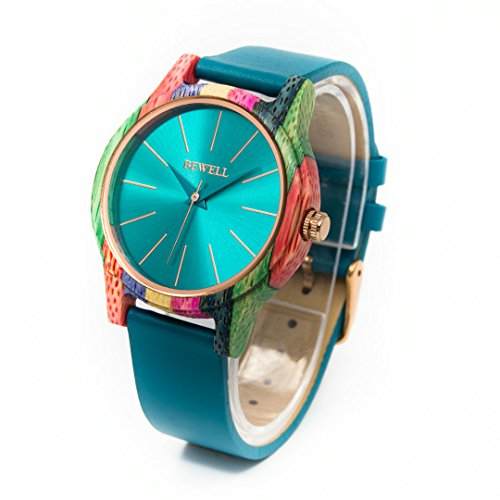 bewell-w139a-womens-beautiful-wristwatch-with-genuine-leather-strap-bamboo-bezel-eleghant-watch-with