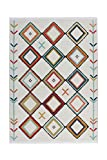 Teppich Wohnzimmer Carpet Orientalisch Modern Design Agadir 210 Rug Rauten Muster Polypropylen 120x170 cm Mehrfarbig/Teppiche günstig online kaufen