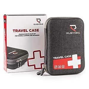 Erste-Hilfe-Travel-Case – Notfalltasche inkl. Inhalt für unterwegs – First Aid Kit für Reisen, Wandern, Camping, Urlaub…
